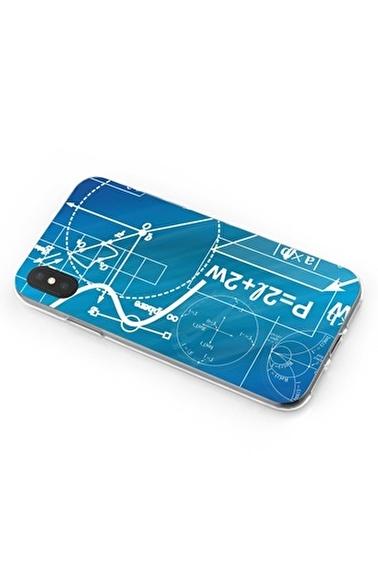 Lopard iPhone Xs Max Kılıf Silikon Arka Kapak Koruyucu Geometrik Gesaplar Desenli Full HD Baskılı Renkli